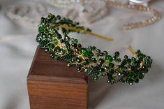 Bridal Hair Tiara, Boho Wedding Hair, Bridal Headpieces, Handmade Wedding Jewellery, Handmade Wire Jewelry, Crystal Headband, Crystal Crown, Tiara Hairstyles, Wedding Hairstyles