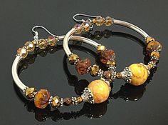 Bohemian Earrings  Memory Wire Earrings  by TheaDesignConcepts