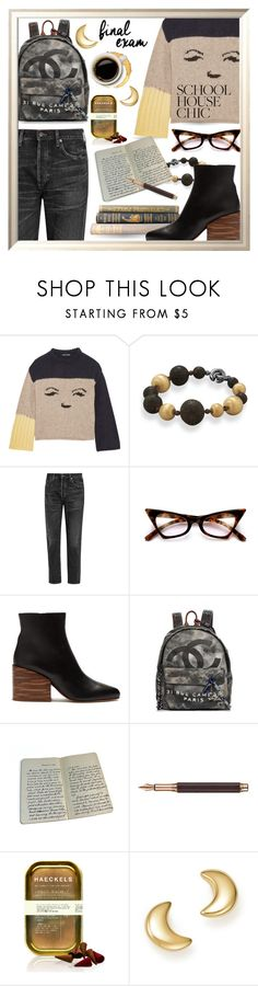 """Final Exams"" by queenofsienna ❤ liked on Polyvore featuring AlexaChung, BillyTheTree, Citizens of Humanity, Gabriela Hearst, Chanel, Caran d'Ache, Haeckels and Bloomingdale's"