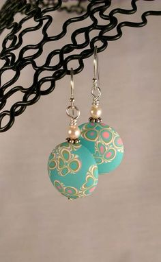 earrings - polymer lentils