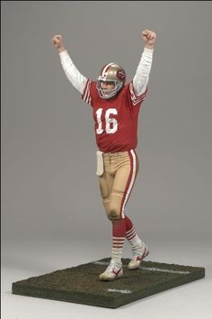 McFarlane Toys 6 NFL Legends Series 2 Joe Montana * More info could be found at the image url. Nfl 49ers, 49ers Fans, Nfl Football, American Football, Sports Picks, Sports Brands, Sports Toys, Sports Art, Forty Niners