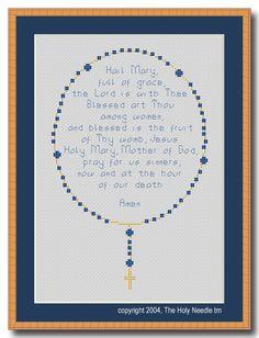Cross+Stitch+Pattern+-+PDF+-+Rosary+:+El+Camino+Real