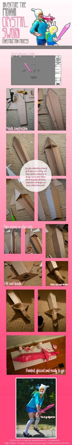 Fionna Crystal Sword Construction Process by AnyaPanda.  So totally doing this. <3