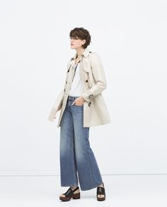 ZARA - COLLECTION SS15 - DOUBLE COTTON TRENCHCOAT