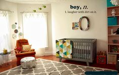 Boy Wall Decal - Boys room wall decal - kids playroom decal by 3rd Ave Shore - Removable Home Decor Handmade in Kailua Hawaii