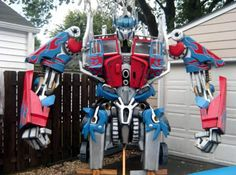 Transformer yard art