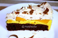 Colourful cheese cake