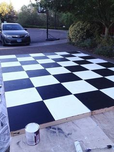 I'm having a field wedding and I found this DIY dance floor that I am going to build for my wedding. But instead of black and white checkers I'm going to paint it to go with a fall themed wedding and apply a monogram to the middle of the floor.
