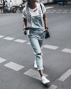 Get this look: http://lb.nu/look/8242335 More looks by Mikuta: http://lb.nu/mikuta Items in this look: Dr.Denim Dungarees, Isabel Marant Sneakers, Anine Bing T Shirt #casual #chic #street