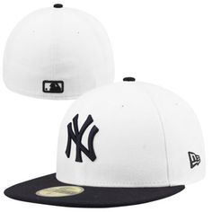 New Era New York Yankees 2-Tone 59FIFTY Fitted Hat - White/Navy Blue