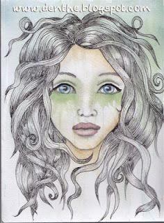 pencil-drawing and my watercolors.