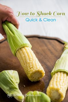 How to Shuck Corn in Microwave and Easy Tip to De-Kernal Corn Taco Dip, Grilled Veggies, Fruits And Veggies, Freezing Vegetables, Grilled Food, Veggie Dishes, Vegetable Recipes, Side Dishes, Cooking Tips