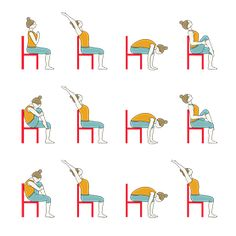 Sun Salutation Variation Sitting On Chair Yoga Surya Namaskar