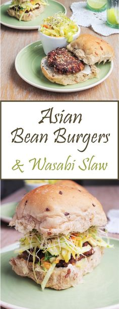 Wasabi coleslaw was introduced to me by the wonderful Vegan Love burger restaurant in Budapest. I've never really liked wasabi and hav. Burger Restaurant, Delicious Vegan Recipes, Vegetarian Recipes, Healthy Recipes, Veggie Sandwich, Veggie Burgers, Vegan Apps, Bean Recipes, Burger Recipes