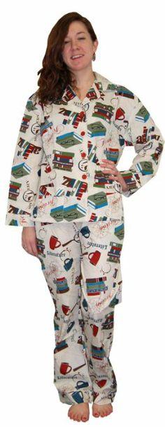 Amazon.com: Frankie & Johnny Book Lover Cotton Pajama: Clothing.  Cute!!!
