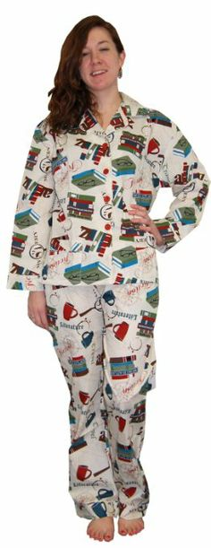 Amazon.com: Frankie & Johnny Book Lover Cotton Pajama: Clothing