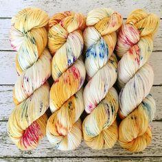 ONE OF A KIND  Hand Dyed Yarn  Signature Merino Nylon Sock by a Vivid Yarn Studio