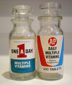 Multiple Vitamins Jars