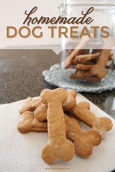 Homemade dog treats - how cute! These would be really special to make for Easter or something.