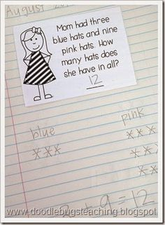 Daily Word Problems- Can be used for Math Writing in Math Daily 3.