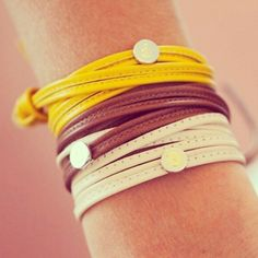 Nomination My Bon Bons leather bracelets in papaya, chocolate and almond. Bracelet Nomination, Looking For Women, Color Combinations, Almond, Leather Bracelets, Chocolate, Pandora, Colours, Fan
