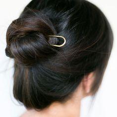 Modern Bun Pin by CA Makes   http://adornmilk.com