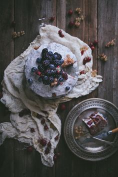 Black & Blueberry Brown Butter Cake | Adventures in Cooking