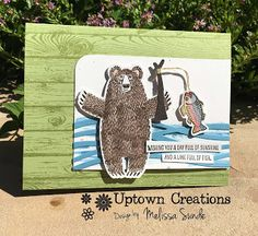 Father's Day is next weekend are you ready? Here is a beary cute card I made using Bear Hugs from Stampin' Up! I also used the new Swirly. Stampin Up, Father's Day, Hug You, Just For Fun, You Are The Father, I Card, Moose Art, Card Making, Bear Hugs
