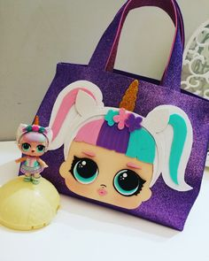 Lol unicorn, lolsurprise, lol bag, borsa lol, lol party Fun Crafts For Kids, Diy For Kids, Diy And Crafts, Diy Doll Pattern, Baby Alive Dolls, Hand Painted Fabric, Educational Games For Kids, Diy Hair Bows, Ideas Para Fiestas