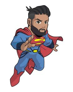 "Jonathan Belle | Superman on Instagram: ""It's me in Boondocks style ⚡️⚡️ ——————————————————- Gotta thank @phillip.shaun.devone for suggesting me to go to Fiverr to find artist to…"" Black Superman, Boondocks, Kawaii Drawings, Gay, Geek Stuff, Comics, Artist, Instagram, Geek Things"