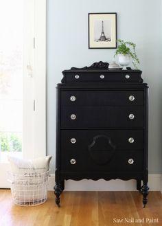 Lamp Black Vintage Dresser 2