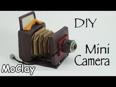 DIY Old folding Camera - Polymer clay Miniature Accessories - YouTube