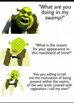17 Shrek Memes That& Make Your Brain Smart But Your Head Dumb - Memebase -.,Funny, Funny Categories Fuunyy 17 Shrek Memes That& Make Your Brain Smart But Your Head Dumb - Memebase - Funny Memes Source by Memes Humor, Shrek Memes, Shrek Funny, Gru Memes, Humor Humour, Really Funny Memes, Stupid Funny Memes, Funny Relatable Memes, Funny Stuff