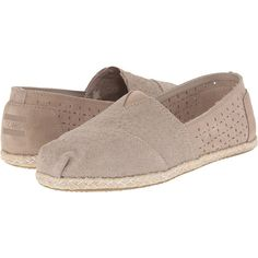 TOMS Seasonal Classics (Oxford Tan Suede Moroccan/Rope) Women's Slip... ($40) ❤ liked on Polyvore featuring shoes, neutral, tan oxfords, suede slip on shoes, suede shoes, slip-on shoes and elastic shoes