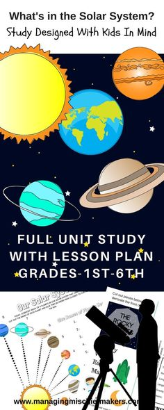 Full Online Solar System Unit Study Designed for homeschoolers by a full time homeschool mom.