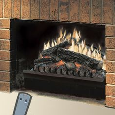 """This is a Dimplex 23"""" Standard Electric Fireplace Insert/Log Set."""