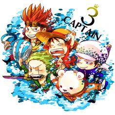 Rookies - Luffy & Zoro, Kidd & Killer, Law & Bepo