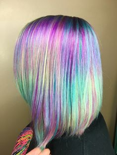 #pulpriot #rainbowhair #hologramhair #hairgoals #haircolor @samanthabeth85