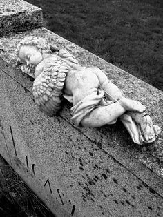 Napping Cherub, Oak Ridge Cemetery, Southbridge, MA