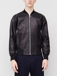 Etudes Horizon Leather Jacket Black