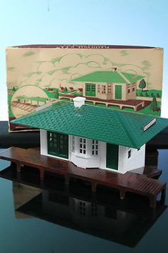 Plasticville O Scale Passenger Station Train Depot Vintage Original Box Christmas Past, Vintage Christmas, Family Christmas, Hobby Electronics Store, Hobby Lobby Furniture, Electric Train Sets, Model Training, Standard Gauge, Hobby Trains