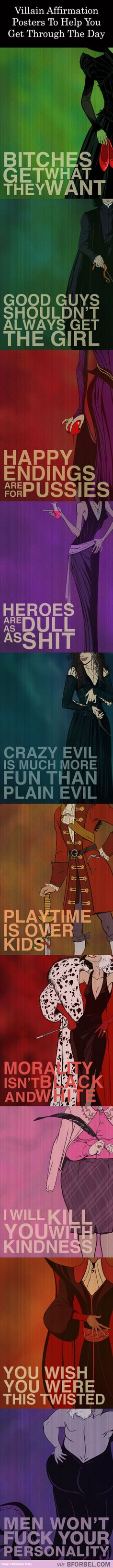 10 Villain Affirmation Posters With Real Life Advice…