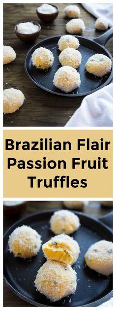 BRAZILIAN FLAIR PASSION FRUIT TRUFFLES