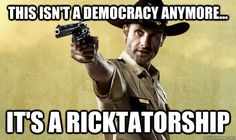 Walking Dead humor -- can't believe that I have to wait until the Fall -- life just isn't fair...