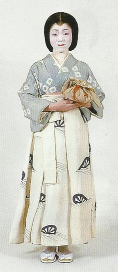 Lady's maid of the Kamakura Period , Japanese Outfits, Japanese Fashion, Japanese Clothing, Japanese Costume, Japanese Kimono, Traditional Fashion, Traditional Outfits, Authentic Costumes, Japanese Textiles