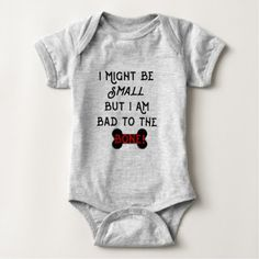 Bad to the Bone Black & Red Baby Bodysuit - red gifts color style cyo diy personalize unique