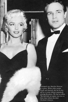 MM & Marlin Brando;they were perfection