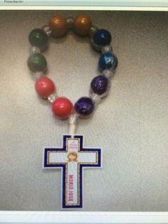 Virgencita rosario de chicle recuerdo de primera comunion ...