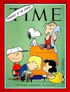 Snoopy and the gang Time magazine.