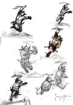 Barbarian Sketches #Frank_Frazetta
